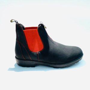 Beatles uomo pelle nero elastico colorato made in italy