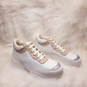 Sneakers donna tipo buffalo pelle artigianale made in italy